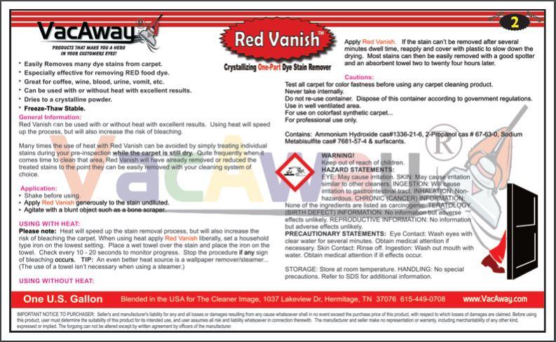 Vacaway Red Vanish Encapstore