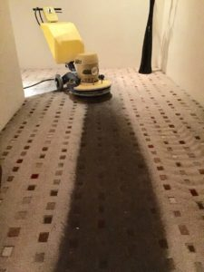 The carpet was encap cleaned with amazing results!