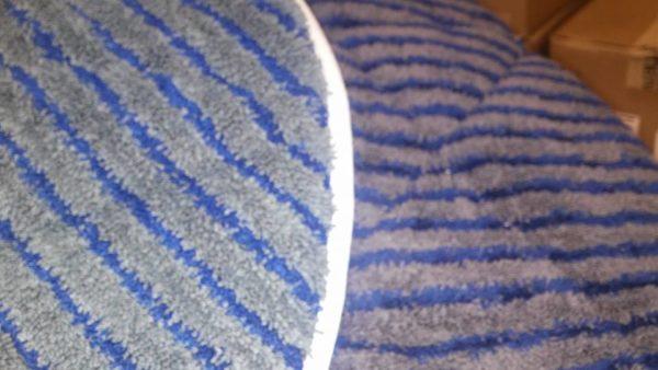 Grey microfiber pads with scrub strips